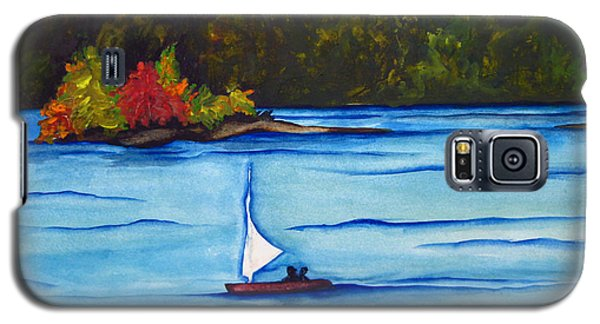 Galaxy S5 Case featuring the painting Lake Glenville  Sold by Lil Taylor