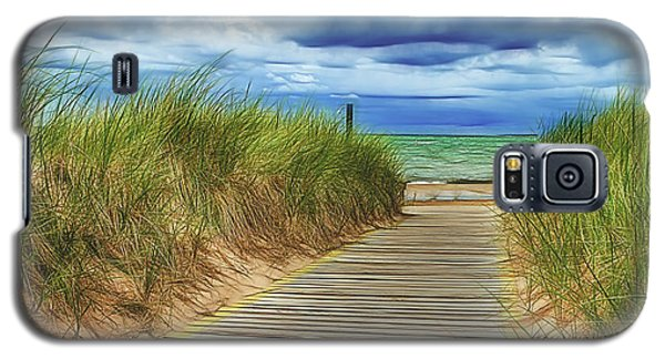 Galaxy S5 Case featuring the photograph Lake Huron Boardwalk by Bill Gallagher
