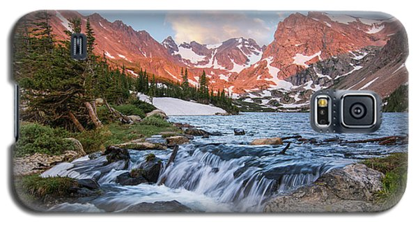 Galaxy S5 Case featuring the photograph Lake Isabelle Sunrise by Aaron Spong