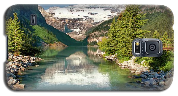 Galaxy S5 Case featuring the photograph Lake Louise by Mary Jo Allen