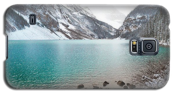 Lake Louise Mountain Snow Forest Landscape Galaxy S5 Case by Andrea Hazel Ihlefeld