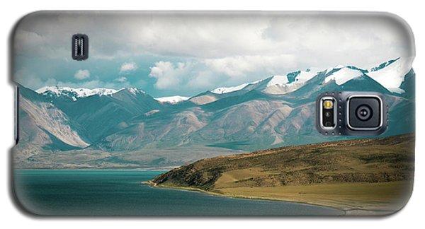 Galaxy S5 Case featuring the photograph Lake Manasarovar Kailas Yantra.lv Tibet by Raimond Klavins