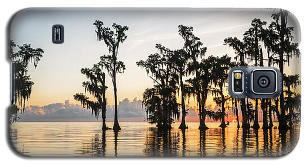 Lake Maurepas Sunrise Galaxy S5 Case by Andy Crawford