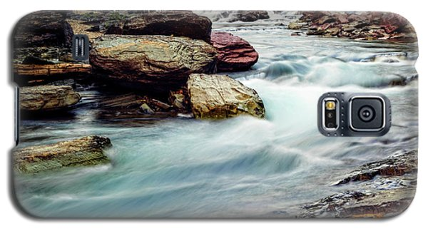 Lake Mcdonald Falls, Glacier National Park, Montana Galaxy S5 Case