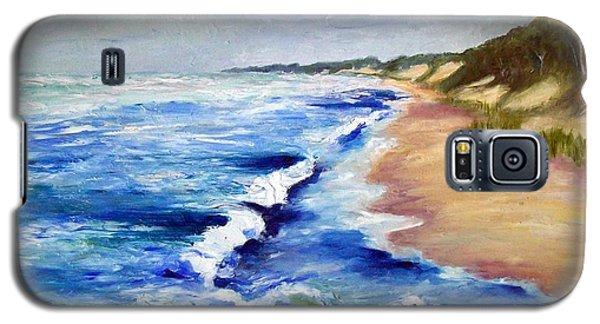 Lake Michigan Beach With Whitecaps Galaxy S5 Case