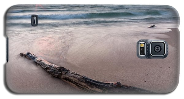 Galaxy S5 Case featuring the photograph Lake Michigan Driftwood by Adam Romanowicz