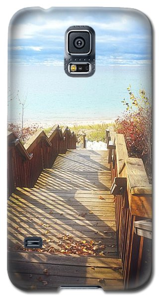 Galaxy S5 Case featuring the photograph Lake Michigan In The North by Michelle Calkins