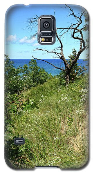 Galaxy S5 Case featuring the photograph Lake Michigan Near Cowles Bog by Scott Kingery
