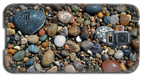 Galaxy S5 Case featuring the photograph Lake Michigan Stone Collection by Michelle Calkins