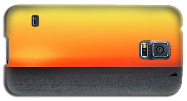 Lake Michigan Sunrise Galaxy S5 Case by Zawhaus Photography