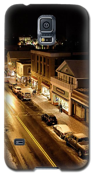 Galaxy S5 Case featuring the photograph Lake Placid New York - Main Street by Brendan Reals