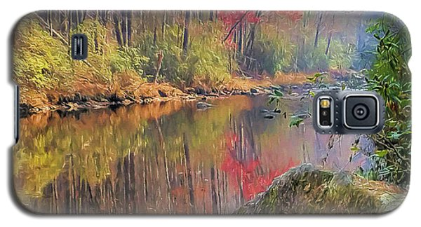 Galaxy S5 Case featuring the painting Chattooga Paradise by Steven Richardson