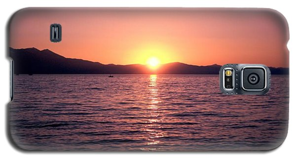 Lake Sunset 8pm Galaxy S5 Case