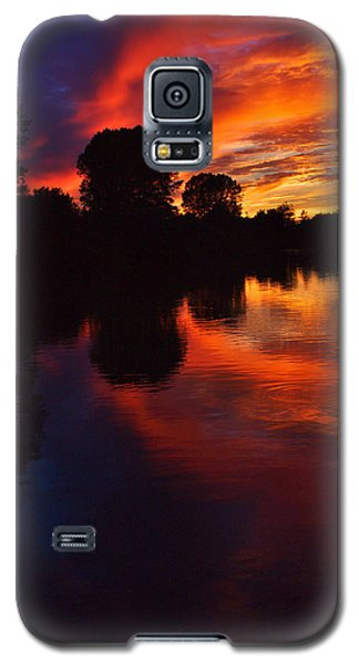 Lake Sunset Reflections Galaxy S5 Case