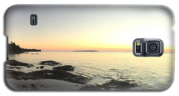 Galaxy S5 Case featuring the photograph Lake Superior Evening Sky by Paula Brown