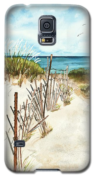 Galaxy S5 Case featuring the painting Lake Superior Munising by Sandra Strohschein