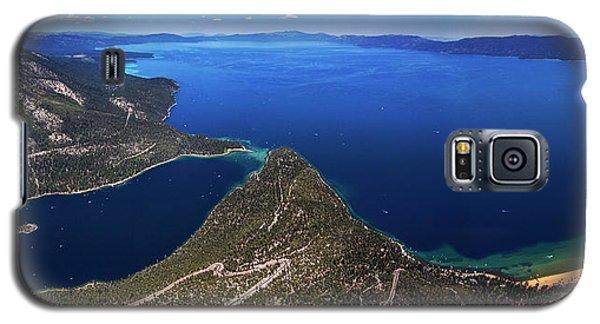 Lake Tahoe Aerial Panorama - Emerald Bay Aerial Galaxy S5 Case