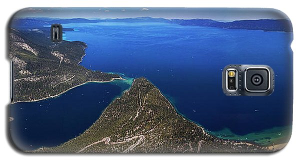 Galaxy S5 Case featuring the photograph Lake Tahoe Aerial Panorama - Emerald Bay Aerial by Brad Scott