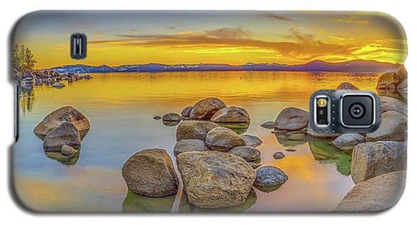 Lake Tahoe Spring Sunset Panoramic Galaxy S5 Case