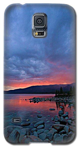 Lake Tahoe Sunset Portrait 2 Galaxy S5 Case