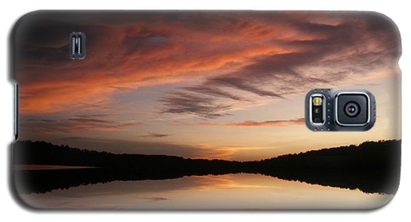 Galaxy S5 Case featuring the photograph Lake Thunderbird Sunset by Rick Friedle