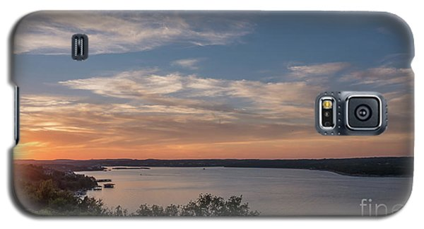 Lake Travis During Sunset With Clouds In The Sky Galaxy S5 Case