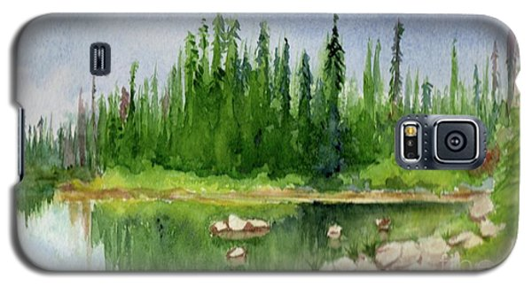 Galaxy S5 Case featuring the painting Lake View 1-2 by Yoshiko Mishina