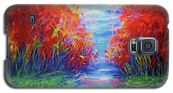 Olena Art Lake View Abstract Artwork Galaxy S5 Case