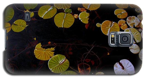 Galaxy S5 Case featuring the painting Lake Washington Lilypad 8 by Thu Nguyen