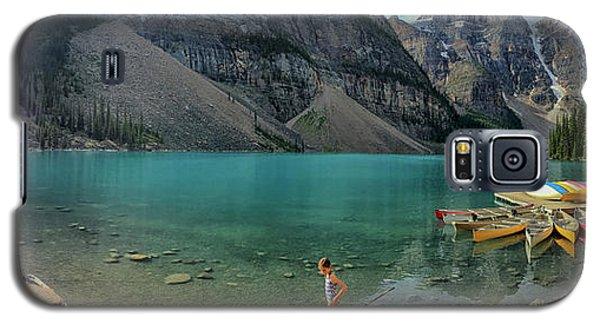 Lake With Kayaks Galaxy S5 Case