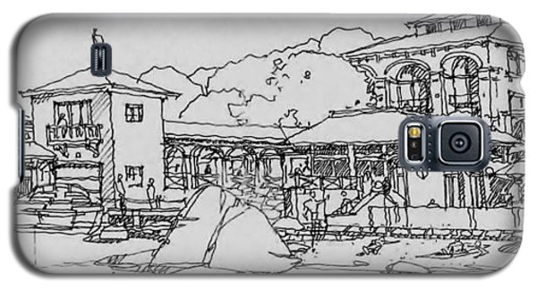 Galaxy S5 Case featuring the drawing Lakefront Residence by Andrew Drozdowicz
