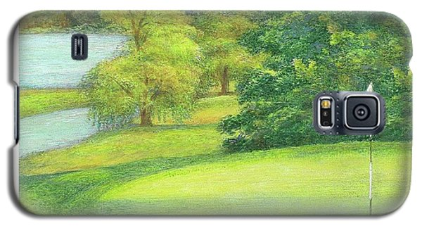 Lakeside Golfing Illustration Galaxy S5 Case