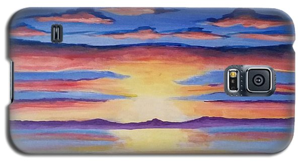 Galaxy S5 Case featuring the painting Lakeview Sunset by Carol Duarte