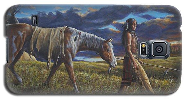 Galaxy S5 Case featuring the painting Lakota Sunrise by Kim Lockman