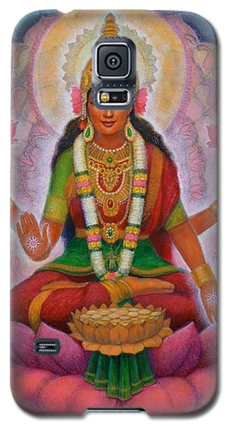 Galaxy S5 Case featuring the painting Lakshmi Blessing by Sue Halstenberg