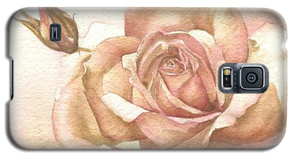 Galaxy S5 Case featuring the painting Lalique Rose by Sandra Phryce-Jones