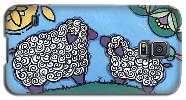 Lamb And Mama Sheep Galaxy S5 Case