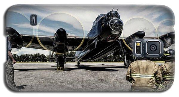 Galaxy S5 Case featuring the photograph Lancaster Engine Test by Brad Allen Fine Art