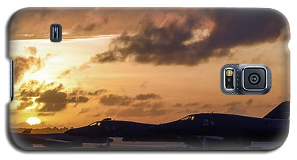 Galaxy S5 Case featuring the photograph Lancer Flightline by Peter Chilelli