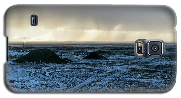Galaxy S5 Case featuring the photograph land of Lava by Dubi Roman