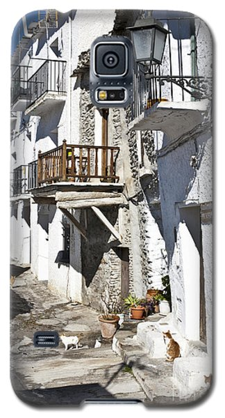 Galaxy S5 Case featuring the photograph Street In Capileira Puebla Blanca by Heiko Koehrer-Wagner