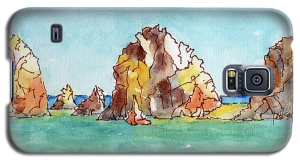 Galaxy S5 Case featuring the painting Lands End Cabo San Lucas Mexico by Pat Katz