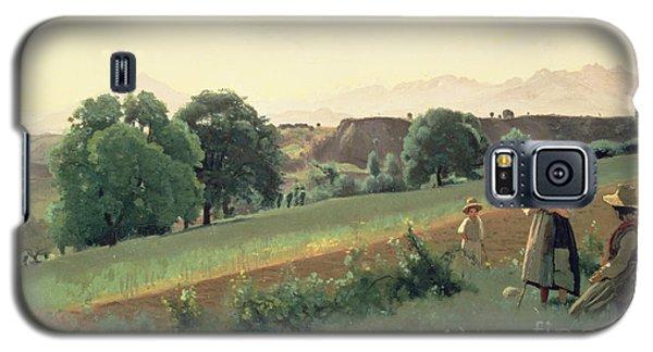 Landscape At Mornex Galaxy S5 Case by Jean Baptiste Corot