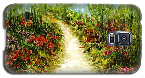 Galaxy S5 Case featuring the painting Landscape by Harsh Malik