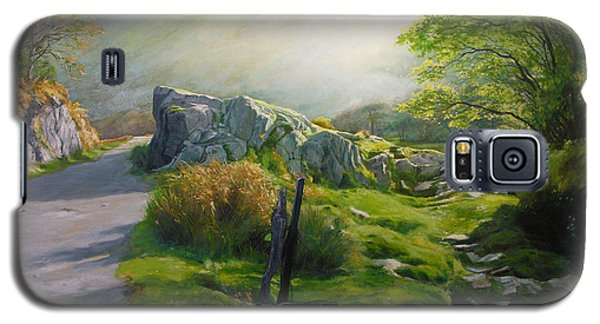 Galaxy S5 Case featuring the painting Landscape In Wales by Harry Robertson
