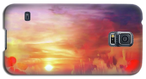 Landscape Of Dreaming Poppies Galaxy S5 Case
