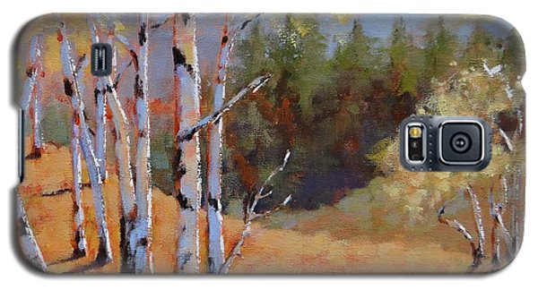 Galaxy S5 Case featuring the painting Landscape Series 1 by Laura Lee Zanghetti