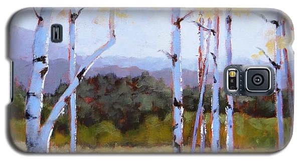 Galaxy S5 Case featuring the painting Landscape Series 2 by Laura Lee Zanghetti