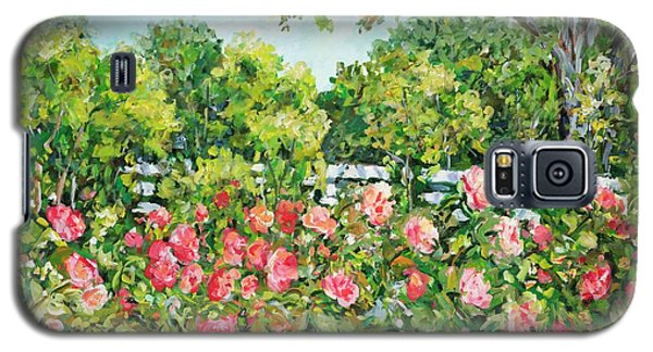 Landscape With Roses Fence Galaxy S5 Case