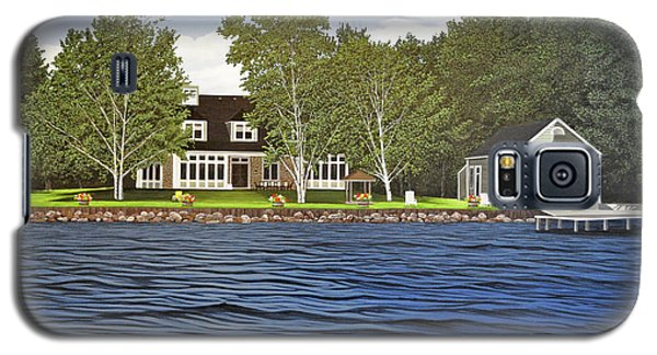 Galaxy S5 Case featuring the painting Langer Summer Home Lake Simcoe by Kenneth M Kirsch